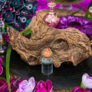 Orvieto Prism Pink Coated Quartz Ring