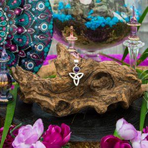 Amethyst Trinity Knot Pendant