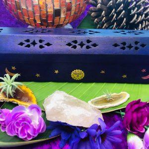 Constellation Purple Wooden Incense Holder