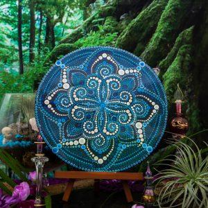 Celestial Wildnerness Handpainted Mandala