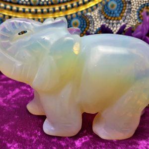 Large Opalite Elephant