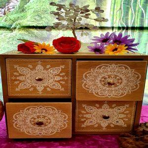 Mandala 4 Drawer Wooden Box