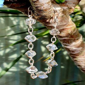 Herkimer Diamond Sterling Silver Bracelet