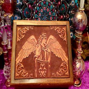 Archangel Michael Wooden Tarot Box