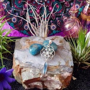 Apatite Flower of Life Pendant