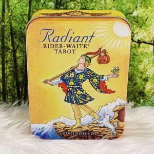 Radiant Rider Waite in a Tin, artwork Pamela Colman Smith