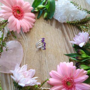 5 Stone Amethyst Ring