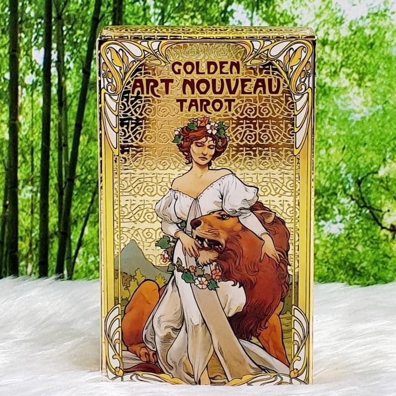 Golden Art Nouveau Tarot Deck by Giulia F Massaglia