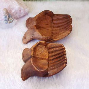 Wooden Receiving Hands Bowls