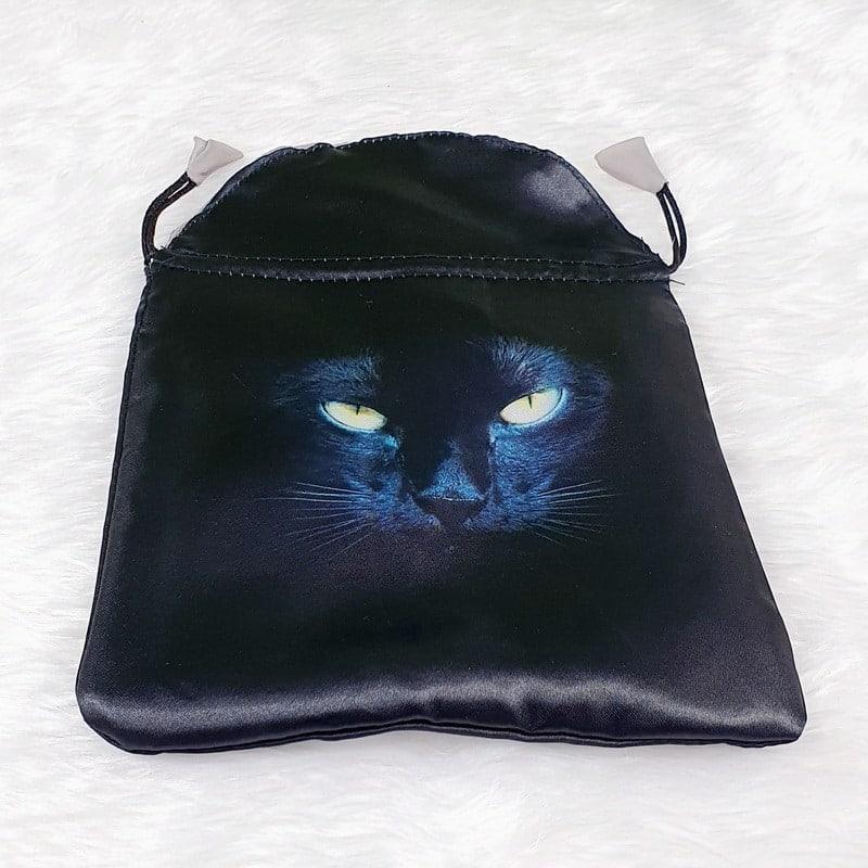 Black Satin Cat Tarot or Oracle Bag