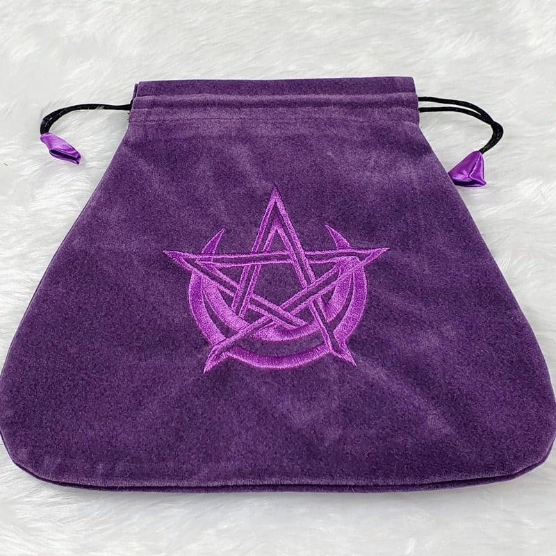 Purple Velvet Wicca Tarot Bag