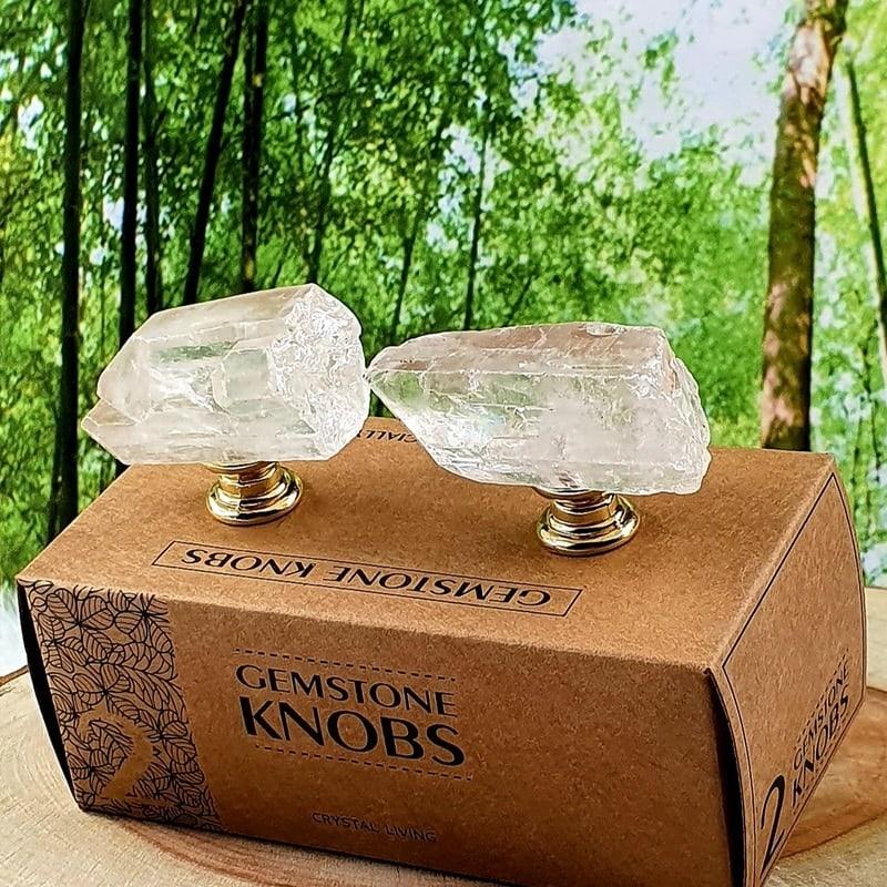 Gemstone Knobs: Clear Quartz