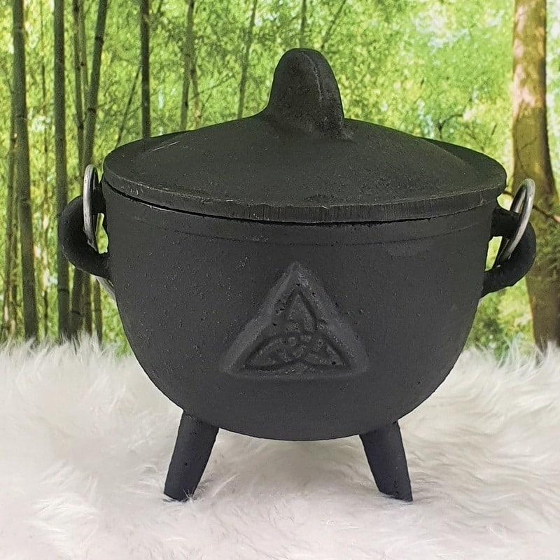 Cast Iron Cauldron Triquetra